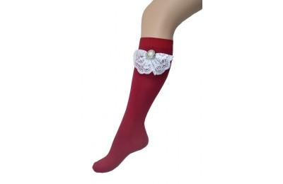 Dantelli Diz Altı Çorap